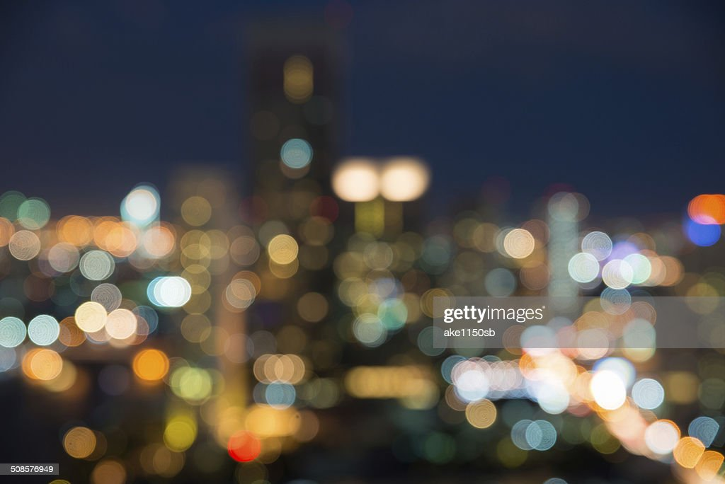 Paysages urbains de Bangkok au crépuscule, Photo floue bokeh : Photo