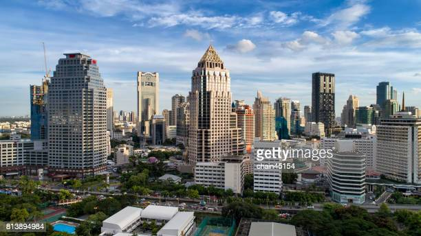 Bangkok cityscape. Bangkok night view in the business district, Thailand