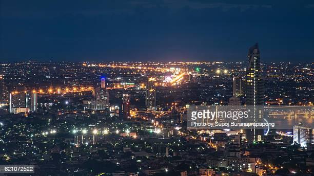 Bangkok cityscape. Bangkok night view