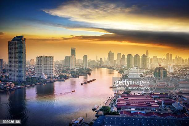 Bangkok cityscape. Bangkok sunrise in the business district