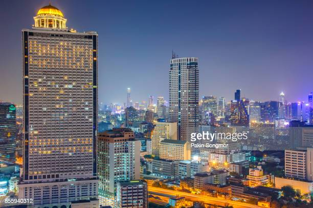 Bangkok condominium townhome, business building and shopping mall center at Southeast Asia