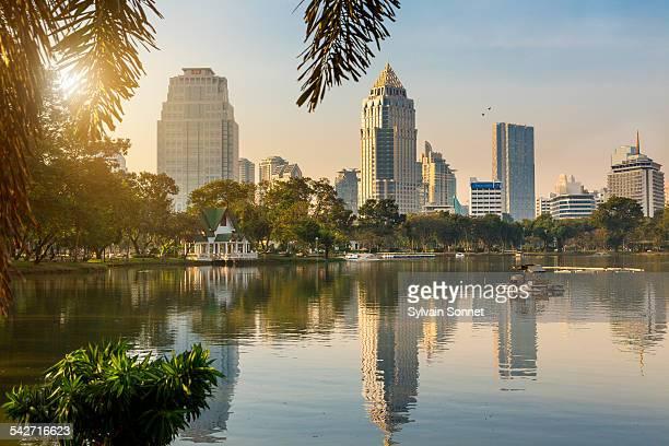 Bangkok, Lumphini park at morning