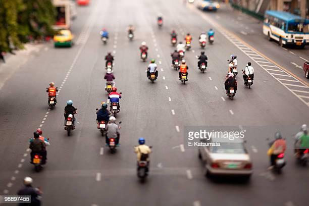Bangkok motorbike traffic