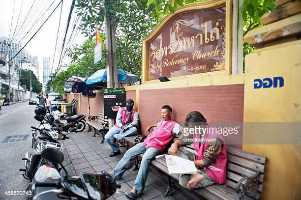 Bangkok Motorcycle Taxi Riders