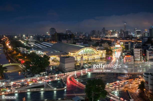 Bangkok Railway Station (Hua Lamphong Railway Station) in Bangkok, Thailand.