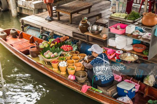 restaurant along the canal The dishes are prepared in small boats moored to a pontoon