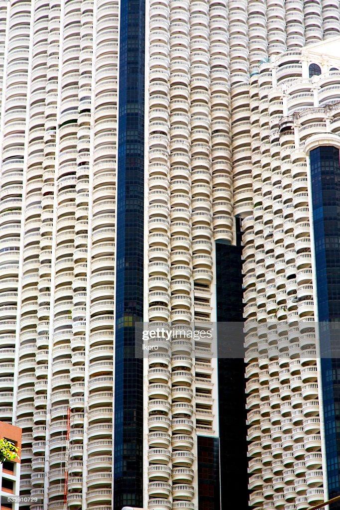 thailand, bangkok-Terrasse in Abstrakte moderne skyscra : Stock-Foto