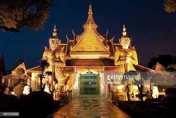 Bangkok Thai Temple at Night