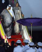 His Highness Sheikh Hamad Bin Khalifa alThani the Emir of Qatar and Her Highness Sheikha Mozah Bint Nasser Abdullah Al Missned Consort of the Emir of...