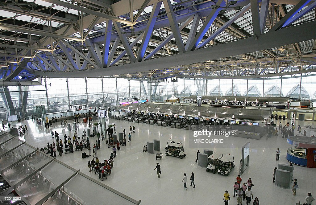 TO GO WITH Thailandaviationairporttourismsexsched This overview shows the new Suvarnabhumi airport near Bangkok 26 September 2006 The town of Pattaya...