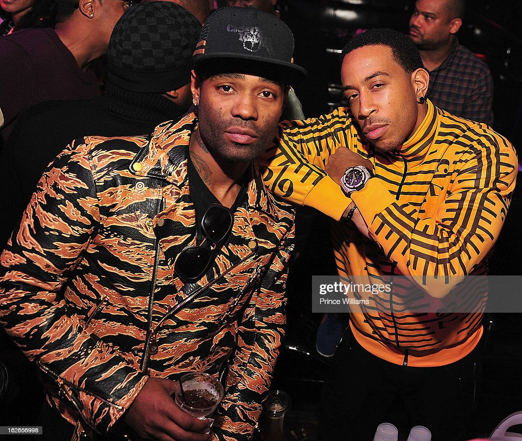 Bangladesh and Ludacris attend the So So Def anniversary party hosted by Jay Z at Compound on February 23, 2013 in Atlanta, Georgia.