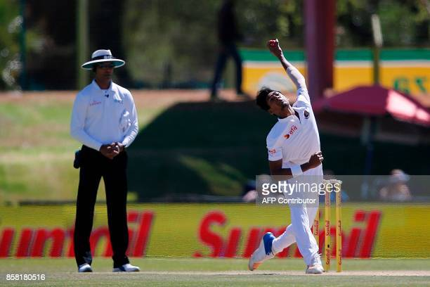 Bangladesh bowler Mustafizur Rahman delivers a ball during the first day of the second Test Match between South Africa and Bangladesh in Bloemfontein...