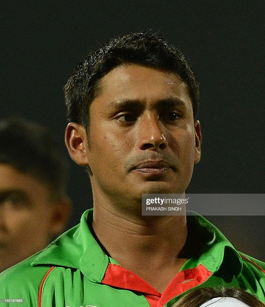 Bangladesh cricketer Mohammad Ashraful during the ICC Twenty20 Cricket World Cup match between Pakistan and Bangladesh at the Pallekele International...