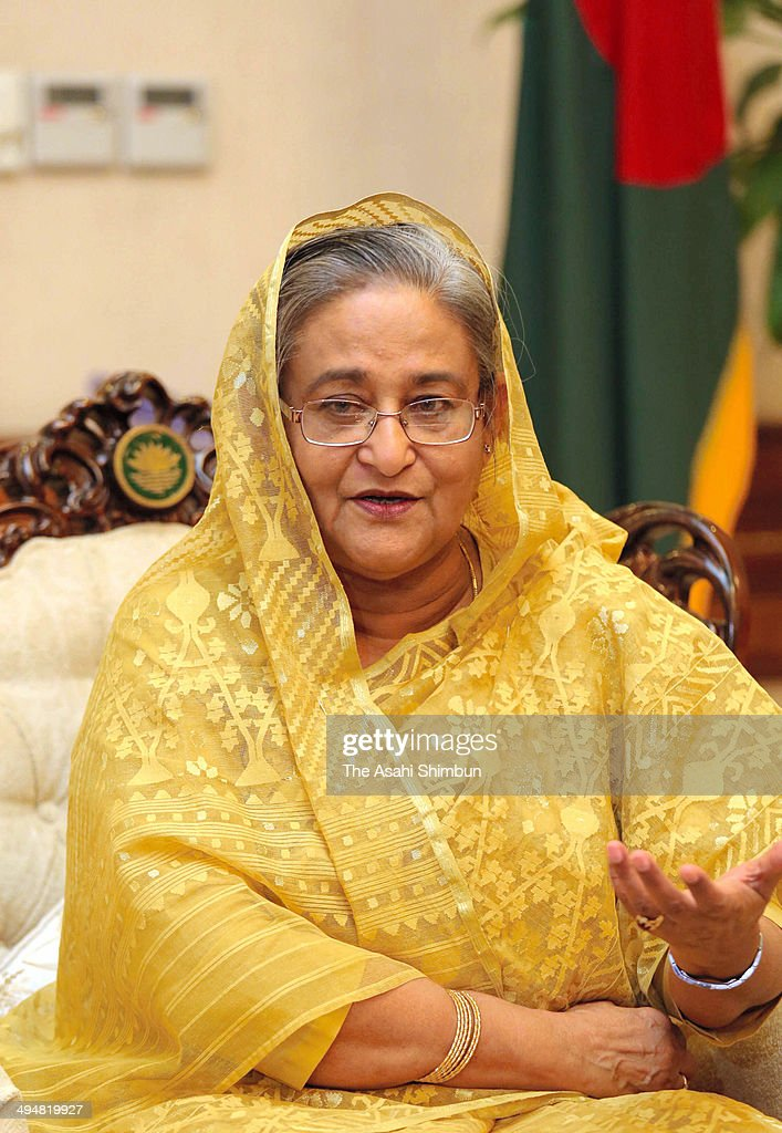 Bangladesh Prime Minister Sheikh Hasina speaks during an interview on May 22, 2014 in Dhaka, Bangladesh.