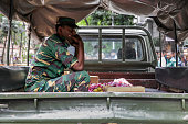 Bangladeshi soldiers and security personnel sit on top of armoured vehicles in a diplomatic zone of the capital Dhaka Bangladesh on 2 July 2016