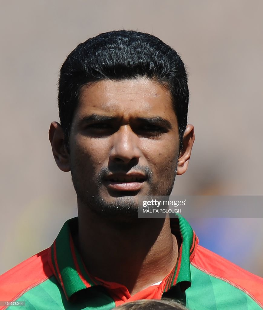 Bangladesh's Mahmudullah during the Pool A 2015 Cricket World Cup match between Sri Lanka and Bangladesh at the Melbourne Cricket Ground (MCG) on February 26, 2015.