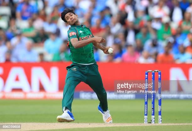 Bangladesh's Mustafizur Rahman in action during the ICC Champions Trophy semifinal match at Edgbaston Birmingham