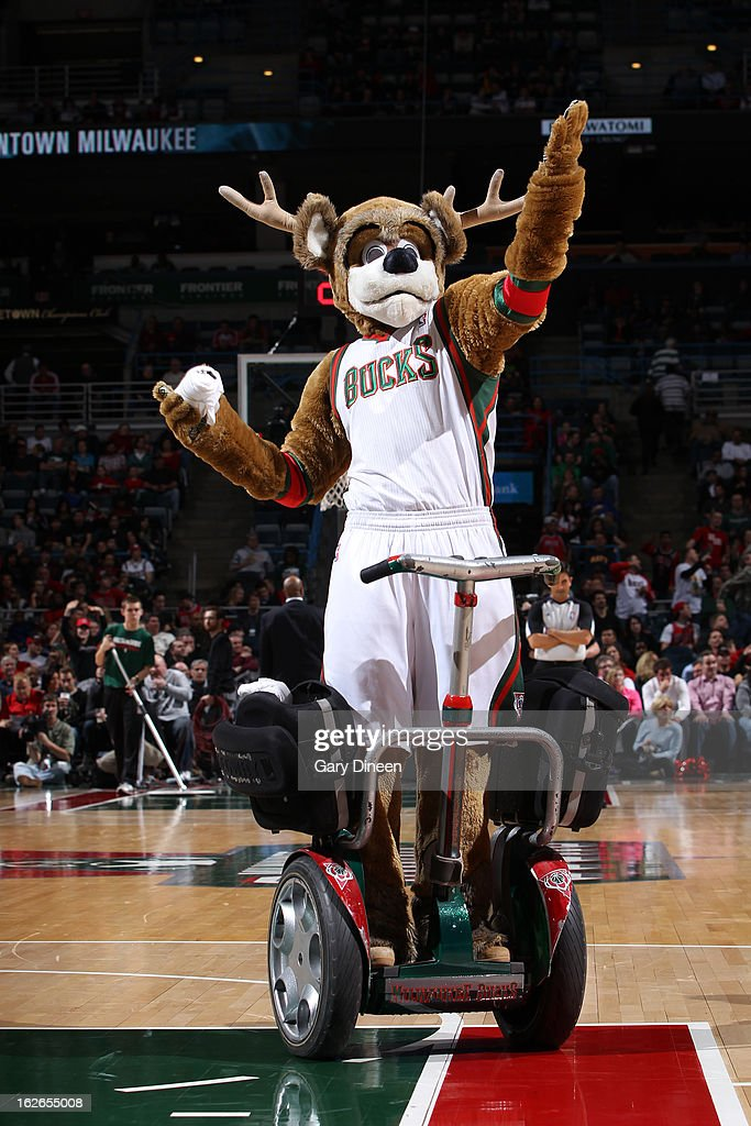 Bango the Milwaukee Bucks mascot comes out before the game against the Chicago Bulls on January 30, 2013 at the BMO Harris Bradley Center in Milwaukee, Wisconsin.