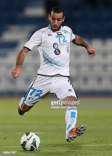 Baniyas' Egyptian striker Mohamed Aboutrika controls the ball during their GCC Champions League first leg final football match against AlKhor in Doha...