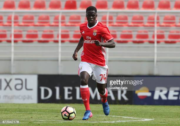 Banjaqui of SL Benfica B in action during the Segunda Liga match between SL Benfica B and FC Porto B at Caixa Futebol Campus on April 23 2017 in...