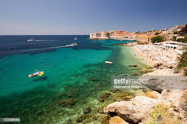 Strand Banje in Dubrovnik, Kroatien