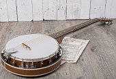 banjo with some sheets placed on the ground