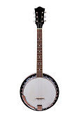 A Banjo Isolated on a White Background