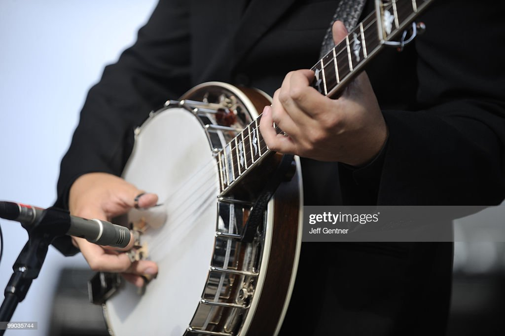 A banjo player performs at the 12th Annual GRAMMY Block Party And Memebership Celebration at Owen Bradley Park on May 11 2010 in Nashville Tennessee