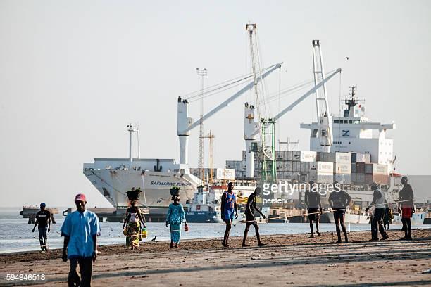 Banjul port, The Gambia.