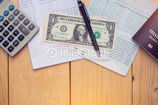 Bank Account Pen Dollar And Calculator With Pport