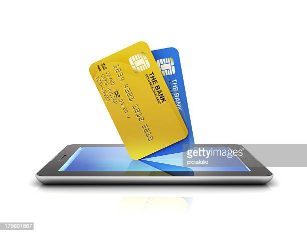 Bank Cards purchase on tablet