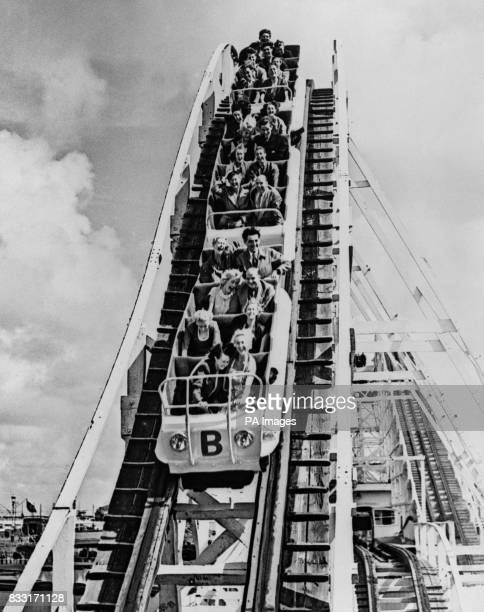 Bank Holidaymakers on the Big Dipper at the Blackpool Pleasure Beach