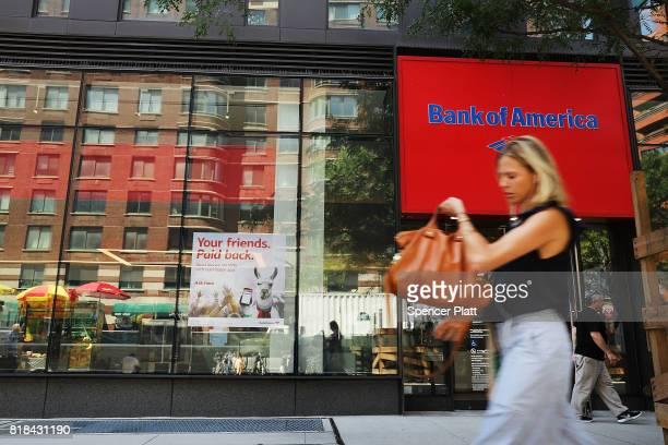 Bank of America branch stands in lower Manhattan on July 18 2017 in New York City Bank of America Corp reported a higherthanexpected quarterly profit...
