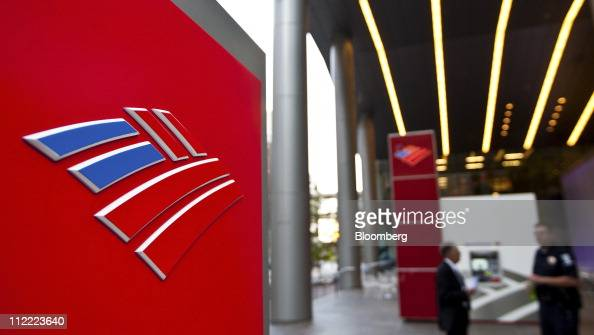 A Bank of America Corp logo is displayed outside of the Bank of America Center in Charlotte North Carolina US on Thursday April 14 2011 Bank of...