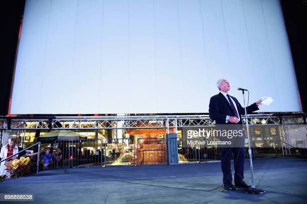 Bank of America New York Chef State President Jeff Barker speaks onstage EAT Food Film Fest at Bryant Park on June 20 2017 in New York City Photo by...