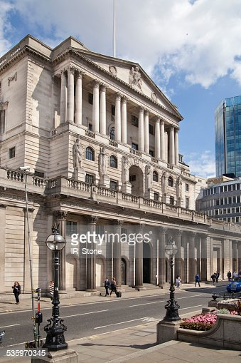 Bank of England and square in front of bank. London : Stock Photo