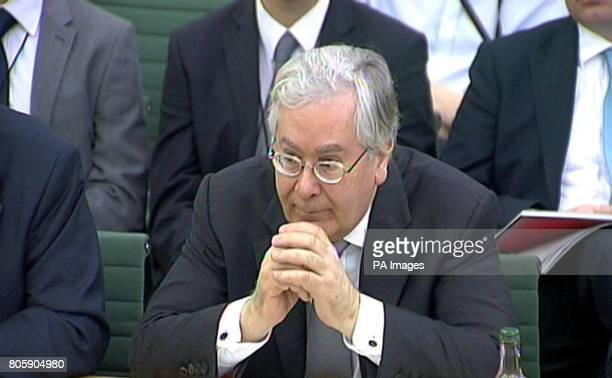 Bank of England Governor Mervyn King gives evidence to the Treasury Select Committee in House of Commons London where he kept the door ajar for...