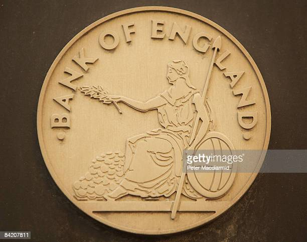 Bank of England sign is displayed outside The Bank on January 8 2009 in London England The Bank has cut interest rates to an historic low of 15 % the...