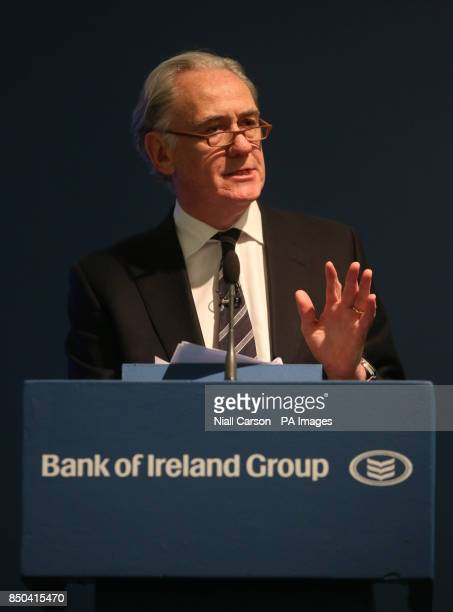 Bank of Ireland chairman Archie Kane during the bank's AGM at the Burlington Hotel in Dublin today