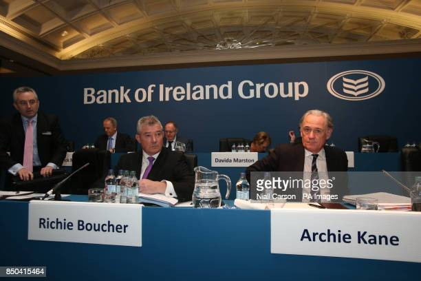 Bank of Ireland chief executive Richie Boucher and chairman Archie Kane during the bank's AGM at the Burlington Hotel in Dublin today