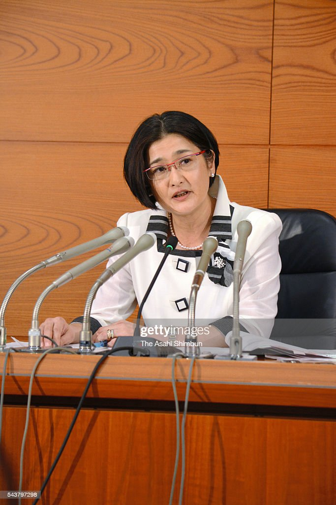 Bank of Japan (BOJ) Policy Board new member Takako Masai of Shinsei Bank attends a press conference at the BOJ headquarters on June 30, 2016 in Tokyo, Japan.