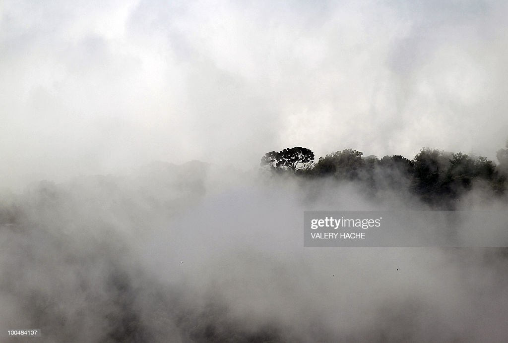A bank of mist covers the French souther