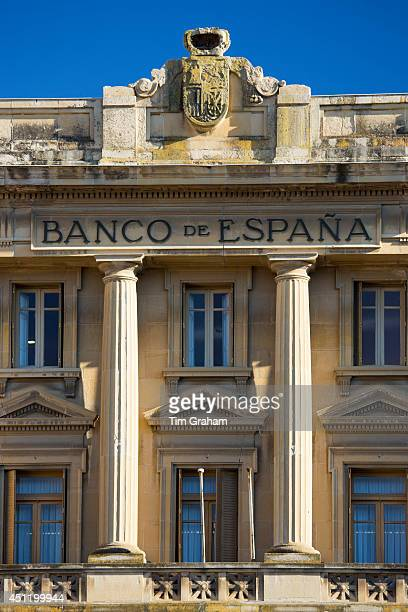 Bank of Spain Banco de Espana traditional architecture in the town of Haro in La Rioja province of Northern Spain