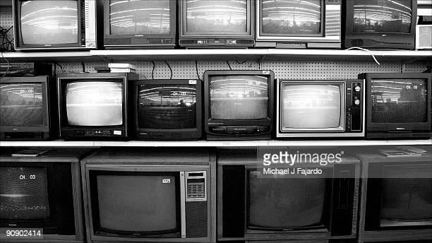 Bank of television sets