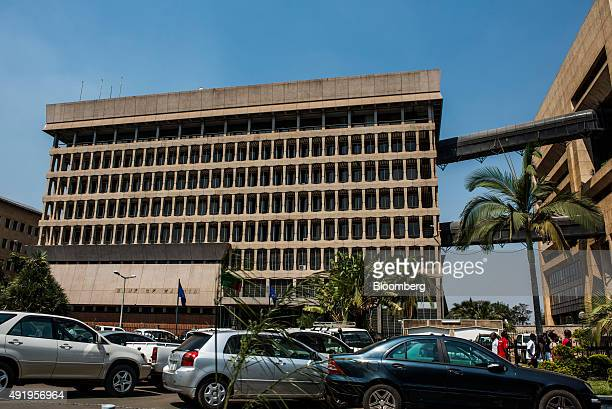 A Bank of Zambia sign sits on display outside the headquarters of the Zambian central bank in Lusaka Zambia on Thursday Oct 8 2015 Zambian Finance...