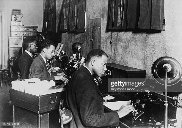 Bank Office In Harlem District At Usa In North America On 1934