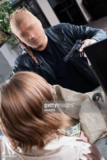 Bank robbery in progress