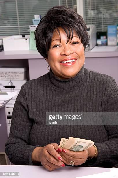 Bank Teller smile 2