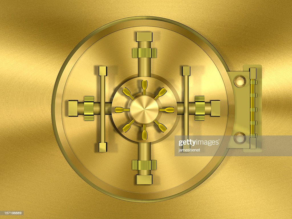 Bank Vault Door Gold