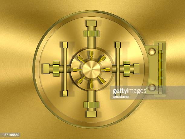 Bank Gewölbe Tür Gold